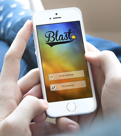 Blast Buzz app in use on mobile phone
