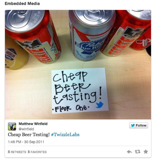 Embedded Tweet Example
