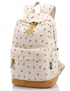 Leaper Lightweight Canvas Laptop Backpack Cute School Bags