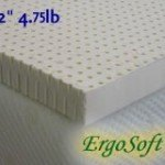 ErgoSoft 2-inch Natural Latex Foam Mattress Pad Topper, Queen