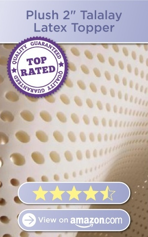 Plush 2in Talalay Latex Topper, 4.5 stars