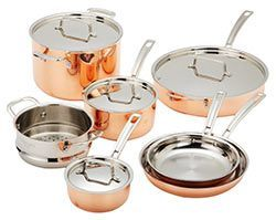 Cuisinart Copper-Stainless Steel Cookware Set