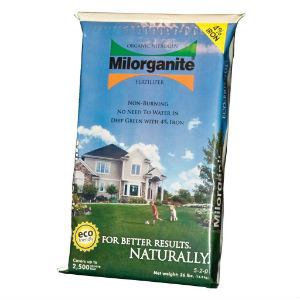 Milorganite Fertilizer 5-2-0 2500 Sq Ft Granules Organic 36 Lb