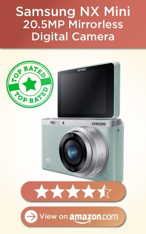 Samsung NX Mini 20.5MP Mirrorless Digital Camera with 9mm Lens, Mint Green, Amazon rating-01