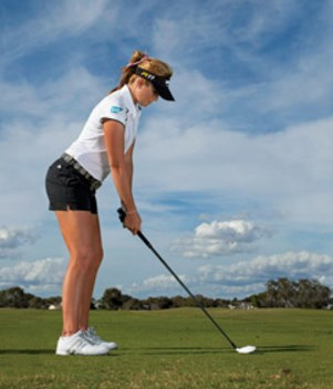 maintain golf stance position
