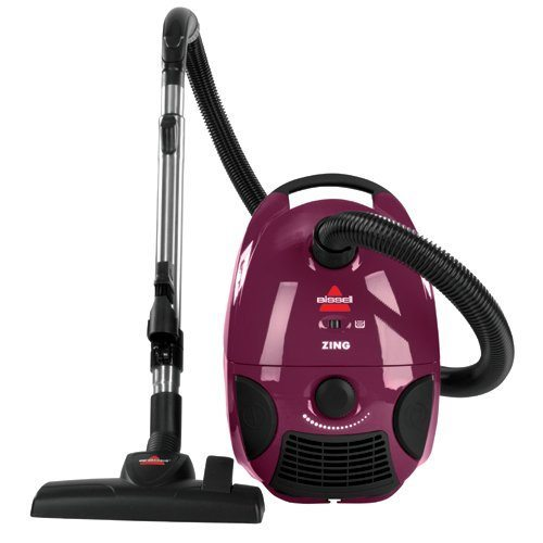 BISSELL Zing Bagged Canister Vacuum, Purple, 4122