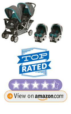 Graco DuoGlider Folding Double Baby Stroller w/ 2 Car Seats Travel Set