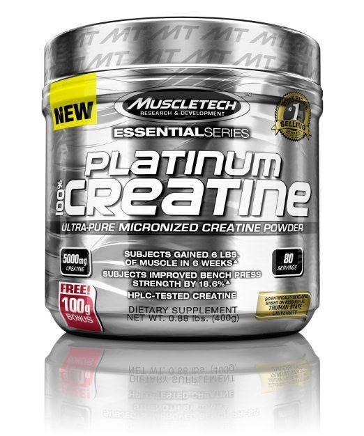 MuscleTech Platinum 100% Creatine Ultra-Pure Micronized Creatine Powder
