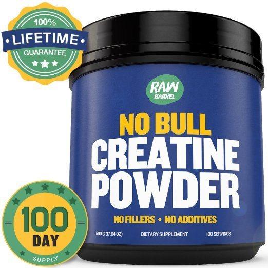 Raw Barrels Pure Creatine Monohydrate Powder