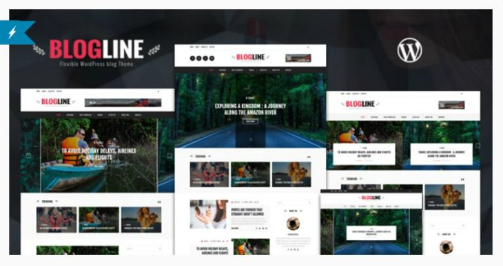 Blogline wordpress blog themes