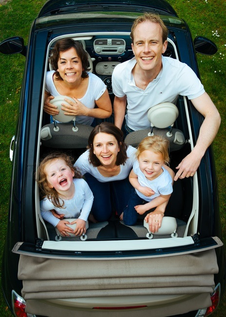 family-in-little-car