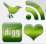 Green Glossy Icons