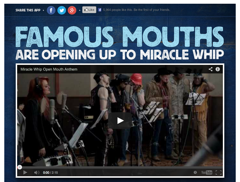 Miracle Whip Video Post on Facebook