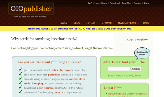 OIOPublisher Screenshot