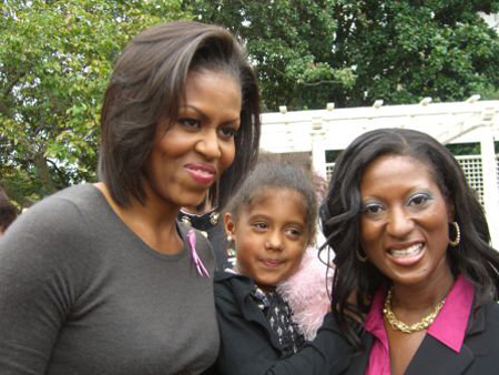 Maimah meets Mrs. Obama.