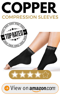 Copper Compression Recovery Foot Sleeves LARGE