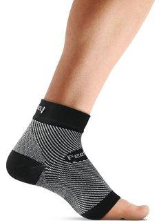 Feetures Unisex Plantar Fasciitis Sleeve White Socks