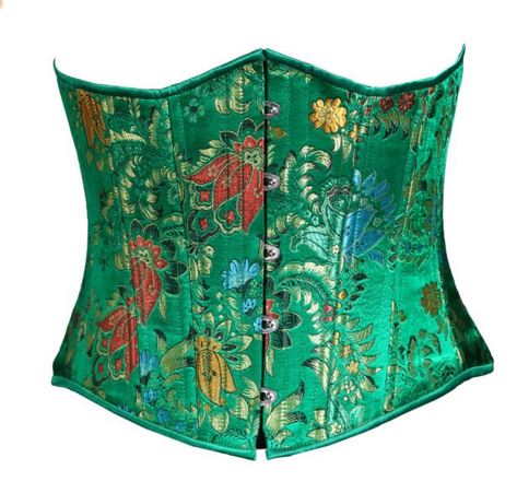 Timeless Trends Women's Floral Brocade Corset