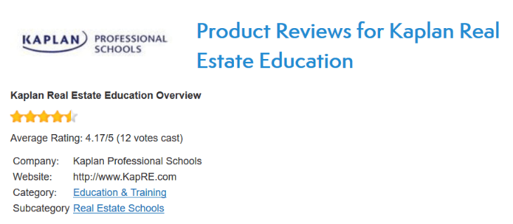 Activerain's Kaplan Real Estate School Review