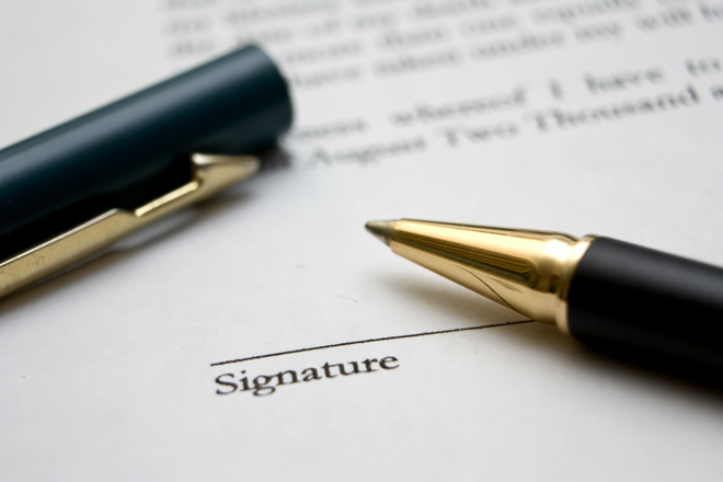 signing contract for bad credit personal loan