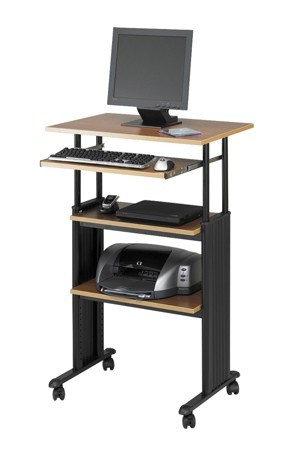 Safco Products 1929MO Muv Stand-Up Adjustable Height Computer Workstation with Keyboard Shelf