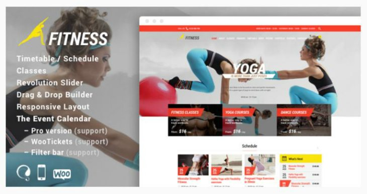 best paid wordpress themes gym fitness