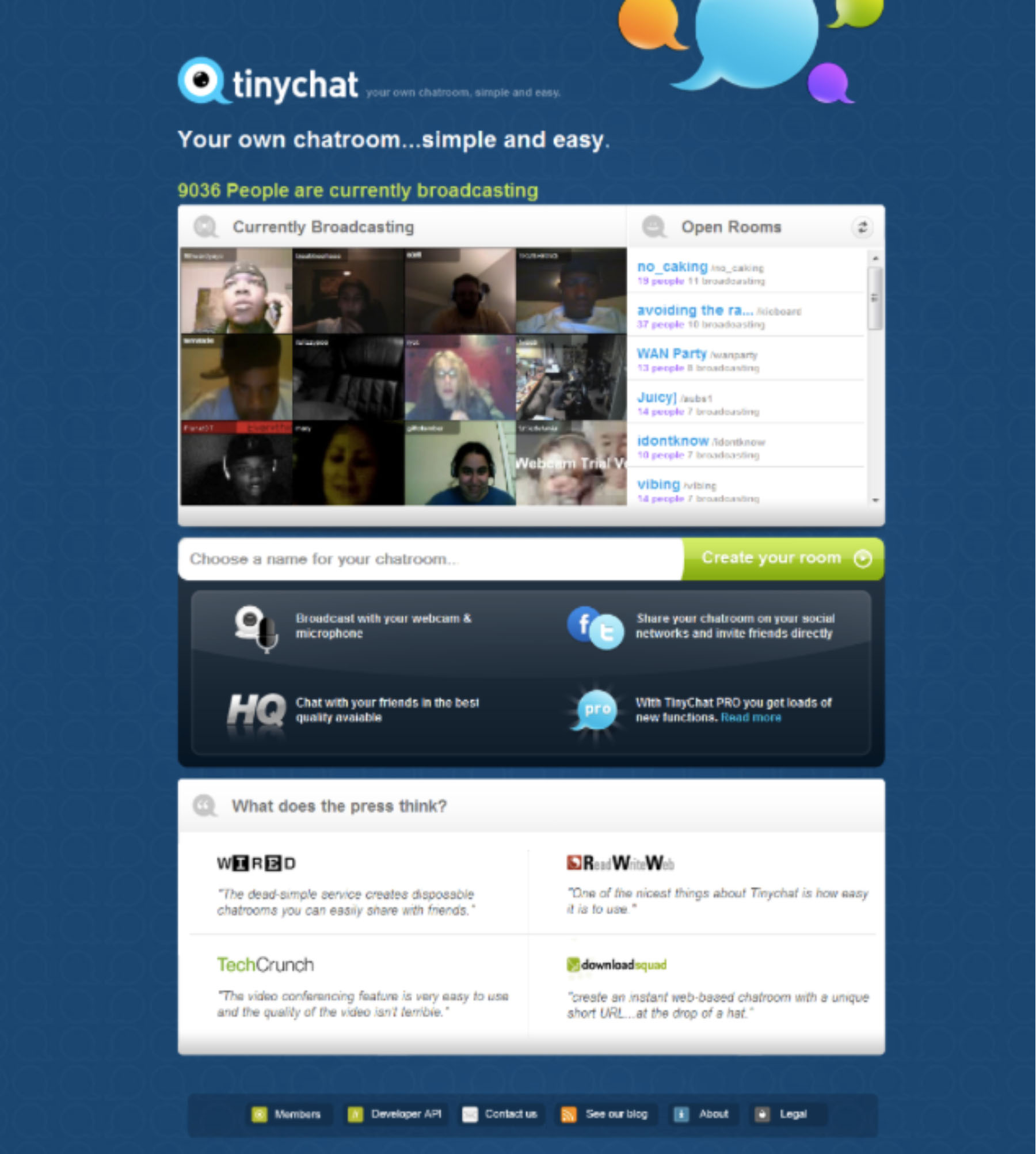 Tinychat webcam