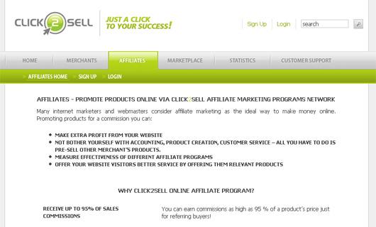 Click2Sell Screenshot