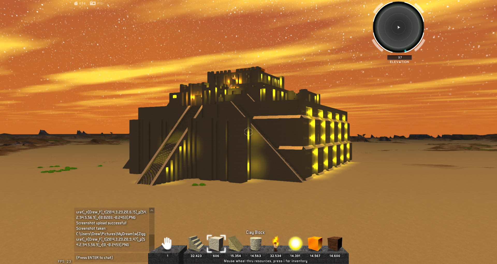 Building 3D worlds inside MyDream.